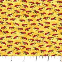 Patchworkstoff Quilt Stoff Bugaboo Kreaturen Ameise Insekten