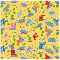 Patchworkstoff Stoff Quilt Serie SWINGING LEAVES Pfützenspiel gelb 140cm