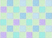 Patchworkstoff Stoff Quilt bunte Badezimmerfliesen blau türkis Karos kariert Kacheln