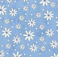 Patchworkstoff Stoff Quilt Garden Gifts weisse Blumen auf hellblau