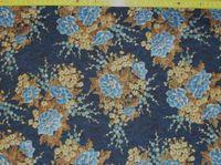 Sakura Blumen Mix auf blau; 50x110cm