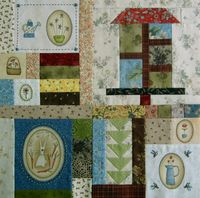 Gundis Garden Quilt Block 8 Materialpackung mit Anleitung