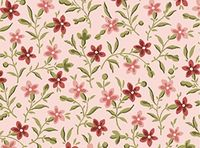 Patchworkstoff Quilt Stoff Light Rose - Posey - Ranken Blumen