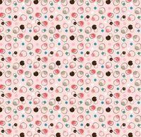 Patchworkstoff Quilt Stoff Bubbles Frou Frou auf rosa