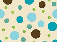 Patchworkstoff Contempo Dots Punkte in braun türkis beige blau