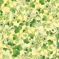 Patchworkstoff Ostern Frühling Bunnys day out Efeu auf gelb 50x110cm