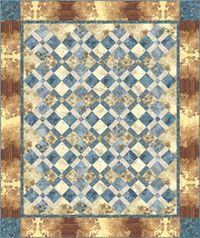 Kostenlose Nähanleitung Ceylon in blau Quilt von Nancy Manoney