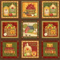 Herbst Stoff Panel aus 15 Bildern - 63 x 110 cm