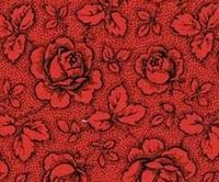 Patchworkstoff Westfalen Serie Rosengarten; rot-schwarz 150cm