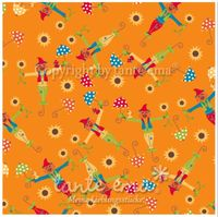 Patchworkstoff Stoff Quilt Serie SWINGING LEAVES Erntezeit orange 140cm