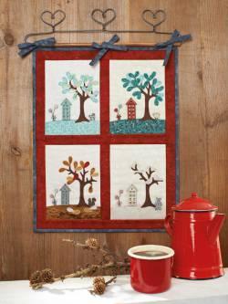 Materialpackung `Jahreszeiten` Wandquilt ca. 37 x 47cm ohne Knöpfe