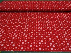 Jerseystoff mit Punkten 1,60m breit x 50cm, 2 Farben möglich