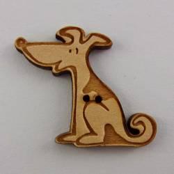 Knopf, Holzknopf Hund