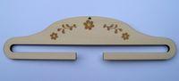 Dekobügel aus Holz mit Blumen 28,5cm