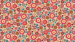 Patchworkstoff Aurelia Kreise bunt rosa REST 60 cm x 110 cm 1394