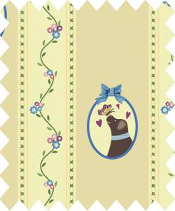Patchworkstoff Quilt Stoff Country Chic Cottage Streifen beige mit Lizzy 145cm