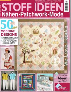 Patchwork Magazin Stoff Ideen `Nähen, Patchwork, Mode` 01/15