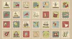 Patchworkstoff Quilt Stoff About a Boy/Girl Panel Bilder 4 Reihen 60x110cm