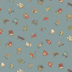 Patchworkstoff Quilt Stoff About a Boy/Girl Toys Spielzeug blau