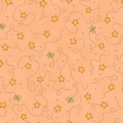 Patchworkstoff Quilt Stoff About a Boy/Girl Blumen auf lachs