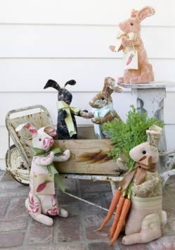 Nähanleitung `Häschen mit Wollhandtasche` Hase Ostern Bunny Hill Design 15 Inch