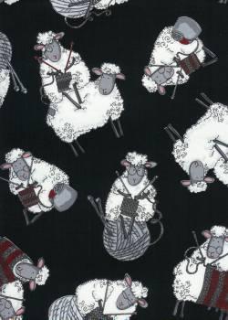 Patchworkstoff Quilt Stoff Schafe Wolle
