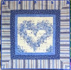 Materialpackung `Blaues Wunder` Herz Wandbild ca. 85x85cm Watercolor