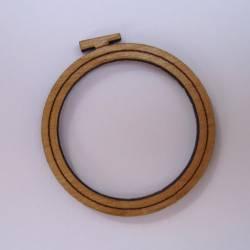 Knopf, Holzknopf Stickrahmen klein