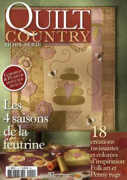 Patchwork Magazin Quilt Country HS No.1 - Les 4 saisons de la feutrine