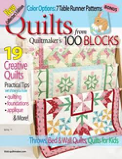 Patchwork Zeitschrift `Quilts from Quiltmaker`s 100 Blocks` Spring 2013
