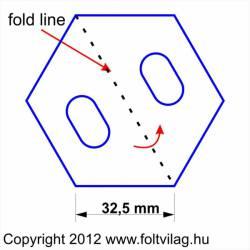 Schablone, Template Hexagon 32,5mm 25 Teile