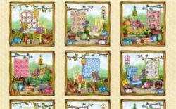 Stoff Patchwork Garden von Cat Williams, Nähen Quilts im Garden Panel 60x110cm
