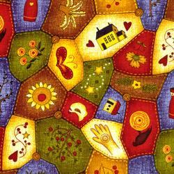 Patchworkstoff Quilt Stoff Classic Folk Art bunt