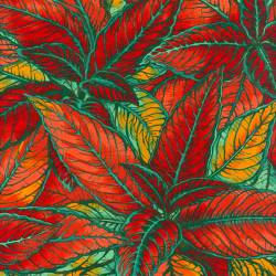 Patchworkstoff Quilt Stoff Sunburst Blätter