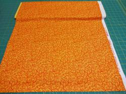 Patchworkstoff `Time For Harvest` orange Kringel