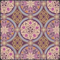 Patchworkstoff Stoff Quilt Bazaar Style lila golden