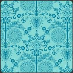 Patchworkstoff Stoff Quilt Bazaar Style turquoise imperial türkis