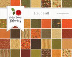 Jelly Rolle Hello fall von Sandy Gervais Herbst Stoffe