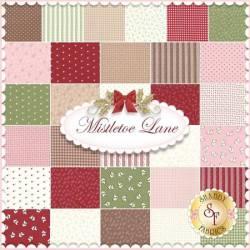 Jelly Rolle `Mistletoe Lane` von Bunny Hill Designs in weihnachtlichem Muster