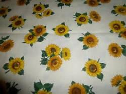 Patchworkstoff Quilt Stoff Sonnenblumen auf beige