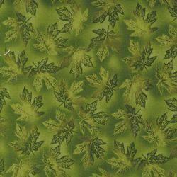Patchworkstoff R. Kaufman grüne Ahornblätter; Blätter