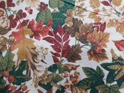 Patchworkstoff Quilt Stoff Faye Liverman Burgos Blätter und Nüsse