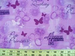 Patchworkstoff Quilt Stoff Hannah Montana lila Pop Princess Star Quality
