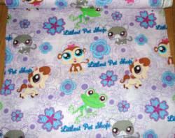 Patchworkstoff Quilt Stoff Littlest Pet Shop Hasbro Tiere