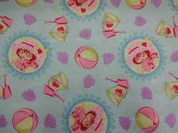 Patchworkstoff Quilt Stoff Emily Erdbeer Strawberry Shortcake Seaberry Beachclub