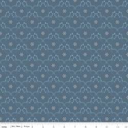 Patchworkstoff Quilt Stoff Twig and Grace blau