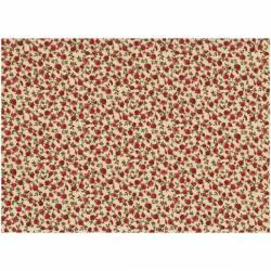 Patchworkstoff Quilt Stoff Rosies Garden kleine rote Rosen auf beige