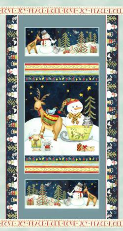 Patchworkstoff Stoff Panel Quilt Joy Love Peace Noel