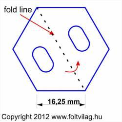 Schablone Template Hexagon 16,25mm 38 Teile Sechseck HX 38