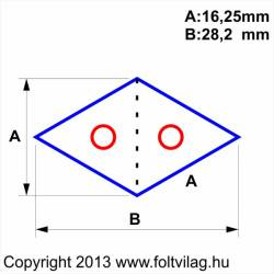Schablone, Template Diamond Rhombus Raute 16,25mm 38 Teile